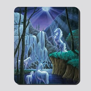 Unicorns in the Moonlight large poster Mousepad