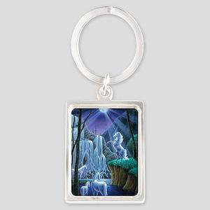 Unicorns in the Moonlight large  Portrait Keychain