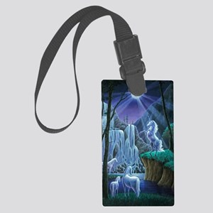 Unicorns in the Moonlight large  Large Luggage Tag
