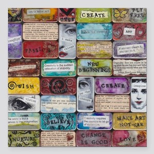 """CollageSheet1 Square Car Magnet 3"""" x 3"""""""