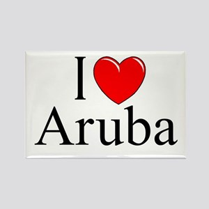 """I Love Aruba"" Rectangle Magnet"