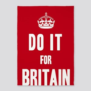 Do it for Britain Poster - Red 5'x7'Area Rug