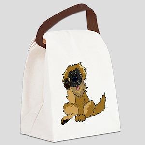 Leonberger cartoon Canvas Lunch Bag