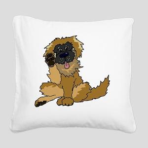 Leonberger cartoon Square Canvas Pillow