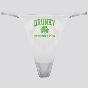 Drunky -green Classic Thong