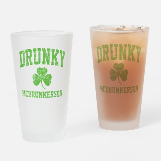 Drunky -green Drinking Glass