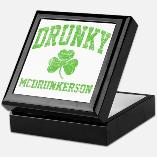 Drunky -green Keepsake Box