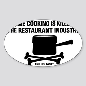 2-homecooking Sticker (Oval)