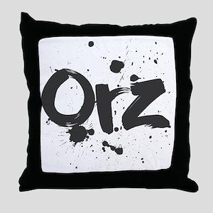 OrZblack Throw Pillow