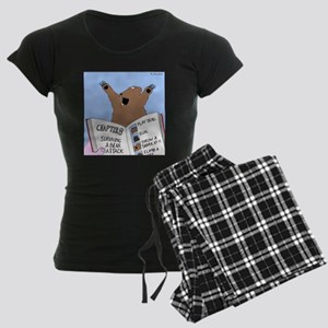 Surviving A Bear Attack Women's Dark Pajamas