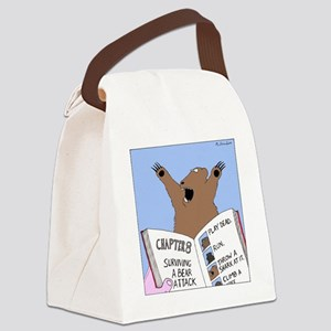 Surviving A Bear Attack Canvas Lunch Bag