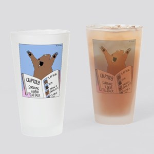 Surviving A Bear Attack Drinking Glass