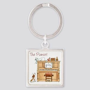 The  Pianist Square Keychain