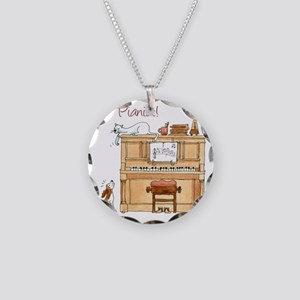 The  Pianist Necklace Circle Charm