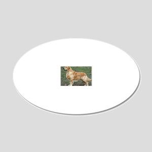 Golden Retriever 9Y186D-072 20x12 Oval Wall Decal