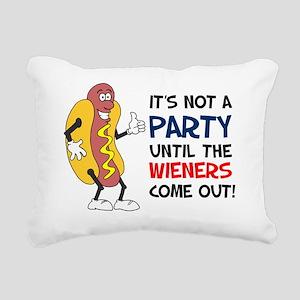 Party Until Wieners Come Rectangular Canvas Pillow