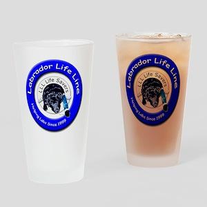 molly logo round copy Drinking Glass
