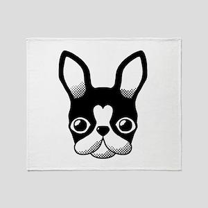 Frenchbulldog/Bostonterrier Throw Blanket