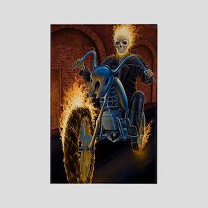 Fire Biker no text large Poster Rectangle Magnet