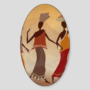 African Women Sticker (Oval)