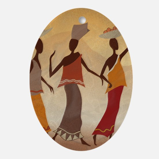 African Women Oval Ornament