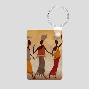 African Women Aluminum Photo Keychain