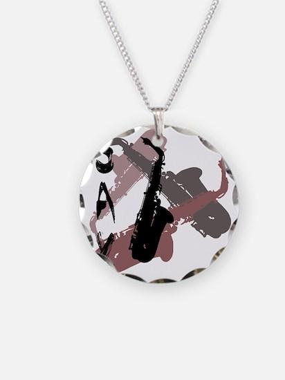 Graphic Sax Necklace