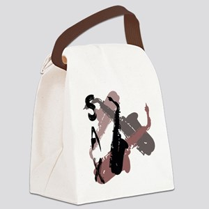 Graphic Sax Canvas Lunch Bag