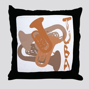 Graphic Tuba Throw Pillow