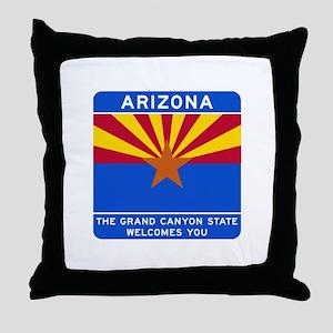 Welcome to Arizona - USA Throw Pillow