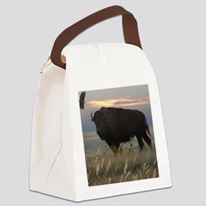bisoneagle16x20_print Canvas Lunch Bag