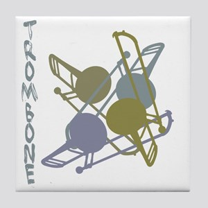 Graphic Trombone Tile Coaster