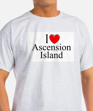 """I Love Ascension Island"" Ash Grey T-Shirt"