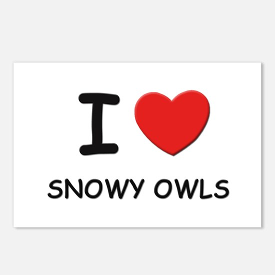 I love snowy owls Postcards (Package of 8)