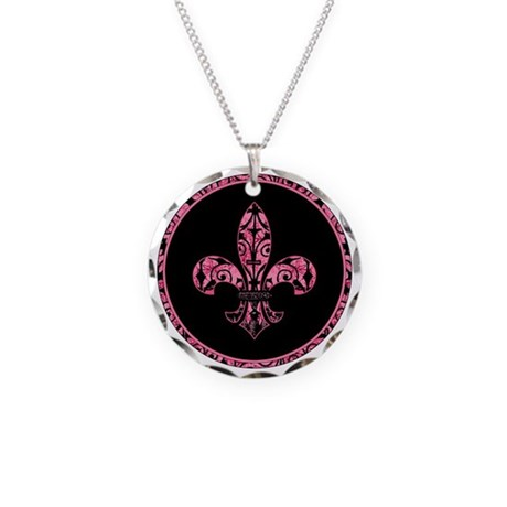 GardenGrungeHpkFleurRtr Necklace Circle Charm