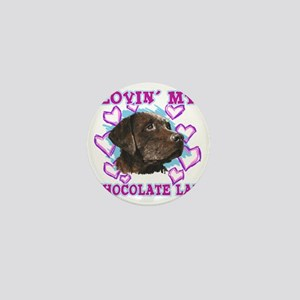 lovin_choc lab_dark Mini Button