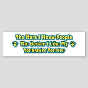 Like My Yorkshire Bumper Sticker