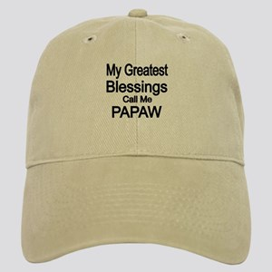 My Greatest Blessings Call Me PAPAW Baseball Cap