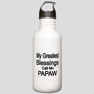 My Greatest Blessings call me PAPAW Water Bottle