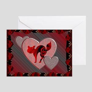 Cat Valentine Greeting Cards (Pk of 10)