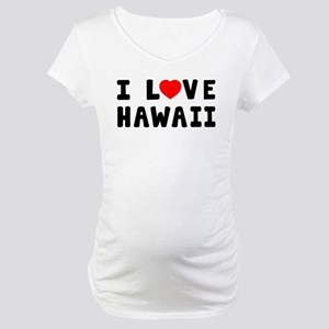 I Love Hawaii Maternity T-Shirt