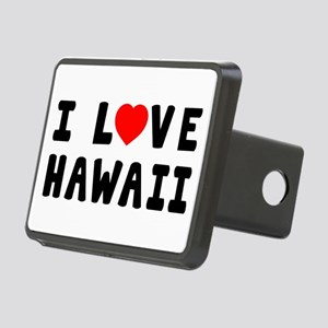 I Love Hawaii Rectangular Hitch Cover