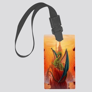 Dragon and Sentinels Large Luggage Tag