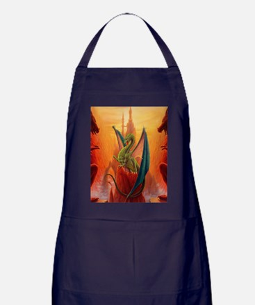 Dragon and Sentinels Apron (dark)