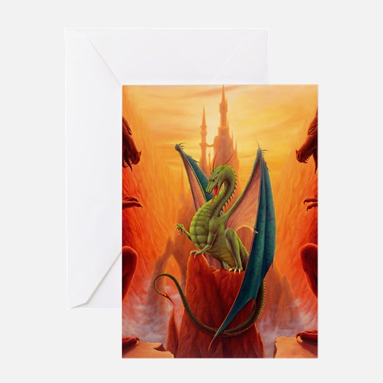 Dragon and Sentinels Greeting Card