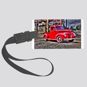 Classic American pick up Large Luggage Tag