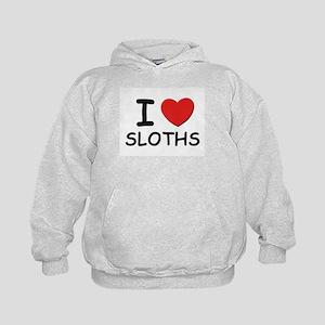 I love sloths Kids Hoodie