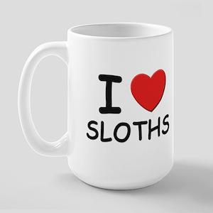 I love sloths Large Mug