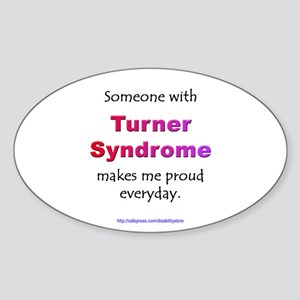 """Turner Syndrome Pride"" Oval Sticker"