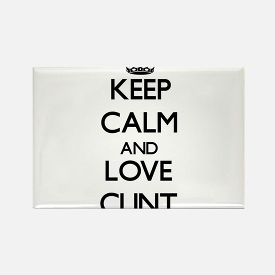 Keep Calm and Love Clint Magnets